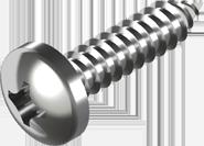 Саморез DIN 7981 по металлу с закругленной цилиндрической головкой